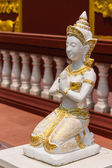 Sitting Woman deva statue — Stock Photo