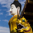 Big buddha image at golden triangle — Stock Photo
