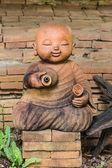 Monaco di argilla bambola usato in thailandia — Foto Stock