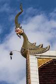 Naga Lanna Gable apex — Stock Photo