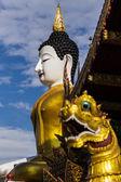 Big buddha image at golden triangle — Stock Photo
