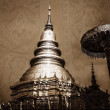 Stock Photo: Vintage - Chedi which is major place of worship