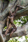 Monkey's Statue in Chiangmai Zoo, Thailand — Stock Photo
