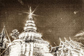 Vintage - Wat Pra That Chomthong vora vihan, Chedi in Thailand — Stock Photo
