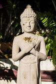 Buddha carved marble — Stock Photo