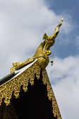 Hussadeeling Statues on Ubosot in Wat Sri Don Moon , Chiangmai — Stock Photo