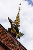 Swan gable apex in Thai style — Stock Photo