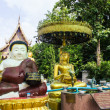 Katyayana and Shin Upagutta Statue in Wat Sri Don Moon — Stock Photo