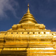 Wat Pra That Chomthong vora vihan in Morning , Chedi in Chiangmai — Stock Photo
