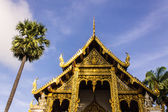 Ubosot in Wat Pra That Chomthong vora vihan , Chedi in Chiangmai — Stock Photo