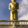 Buddhist monk statue in Wat Mokkanlan , Chomthong Chiangmai Thai — Stock Photo