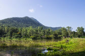 Dam And Mountain, Chiang Mai Northern Thailand — Stock Photo