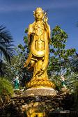 Guanyin Statue in Wat Mokkanlan , Chomthong Chiangmai Thailand — Stock Photo