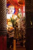 Buddha statue Shan style , Wat Papoa Chiangmai Thailand — Stock Photo