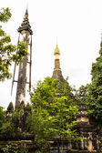 Chedi Shan style in Wat Papoa , Chiangmai Thailand — Stock Photo