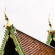 Naga Lanna Gable apex on Ubosot , in Wat Buak Krok Luang , Chiangmai — Stock Photo