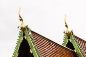 Naga Lanna Gable apex on Ubosot , in Wat Buak Krok Luang , Chiangmai — Стоковое фото