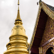 Chapel And Golden Pagoda, Phra That Hariphunchai — Stock Photo