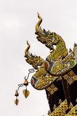 Naga Lanna Gable apex on Ubosot , in Wat Buak Krok Luang , Chiangmai — Stock Photo