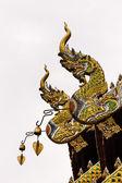 Naga Lanna Gable apex on Ubosot , in Wat Buak Krok Luang , Chiangmai — Стоковое фото