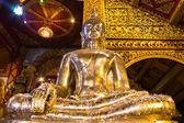 Buddha Silver in Ubosot Wat Srisuphan, Chiangmai Thailand — Stock Photo