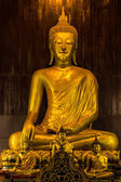Buddha statue in Pan Tao Temple located in Chiang Mai , Thailand — Stock Photo