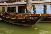 Old fashined wooden boat landing — Stok fotoğraf