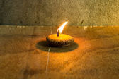 Still life - Candle in Loi Krathong Festival — Stock Photo