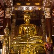 Stock Photo: Buddhstatue in Chedi, Wat Lokmolee
