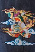 タイ式壁画 wat doi 日焼けプラ — ストック写真