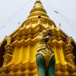 Stock Photo: SinghStatue in Wat Srikamcomphu , Chiangmai Thailand