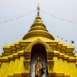 Stock Photo: BuddhStatue and chedi in Wat Srikamcomphu , Chiangmai Thailand