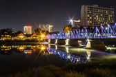 Iron Bridge At Night in Chiangmai Thailand — Foto de Stock