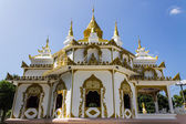 White pagoda in thai temple — Stock Photo