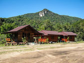 Resort With Mountain in Doi Inthanon National Park — Stock Photo