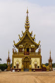 Lanna chapel of temples in Chiangrai Thailand — Stock Photo
