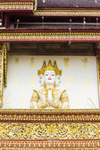 Angels Statue on an antique Thai temple — Stock Photo