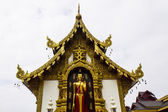 Buddha Statue with chapel of temples in Chiangrai Thailand — Stockfoto