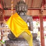 Buddha Nine Head Statue in Thai Temple — Stock Photo