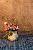 Still Life - Flower Plastic in vase — Stock Photo