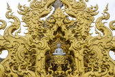 Golden gable apex in Wat Rong Khun , Thailand White Temple Chiangrai — Stock Photo