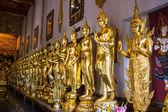 Phra Siam Deva Dhi raj With Buddha Statue In Wat Ban den Temple — Stock Photo