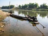 Fishing boat in River — Stock Photo
