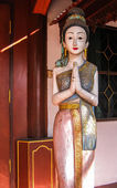 Wood carving of Thai Woman — Photo