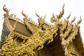 Golden Chapel in Wat Rong Khun , Thailand White Temple Chiang Rai — Stock Photo