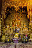 Buddha Statue In Chapel, Wat Ban den Temple Maetang Chiangmai Thai — Photo