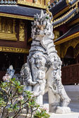 White Lion Statue in Thai Temple — Stock Photo