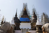 Pagoda Construction in Wat Ban den Temple Maetang Chiangmai Thai — Stock Photo