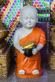 Thai Little Monk Statue — 图库照片
