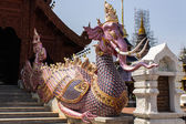 Elephant fusion Swan staircase in Wat Banden, Chiangmai Thailand — Stock Photo